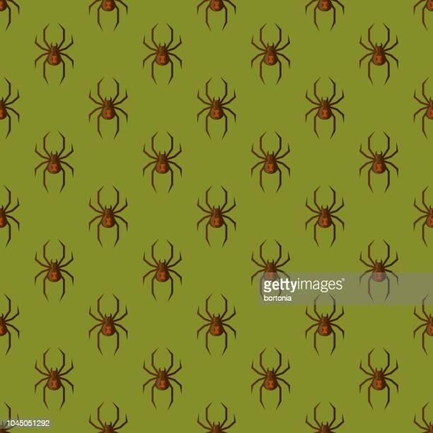 spider halloween seamless pattern - black widow spider stock illustrations, clip art, cartoons, & icons