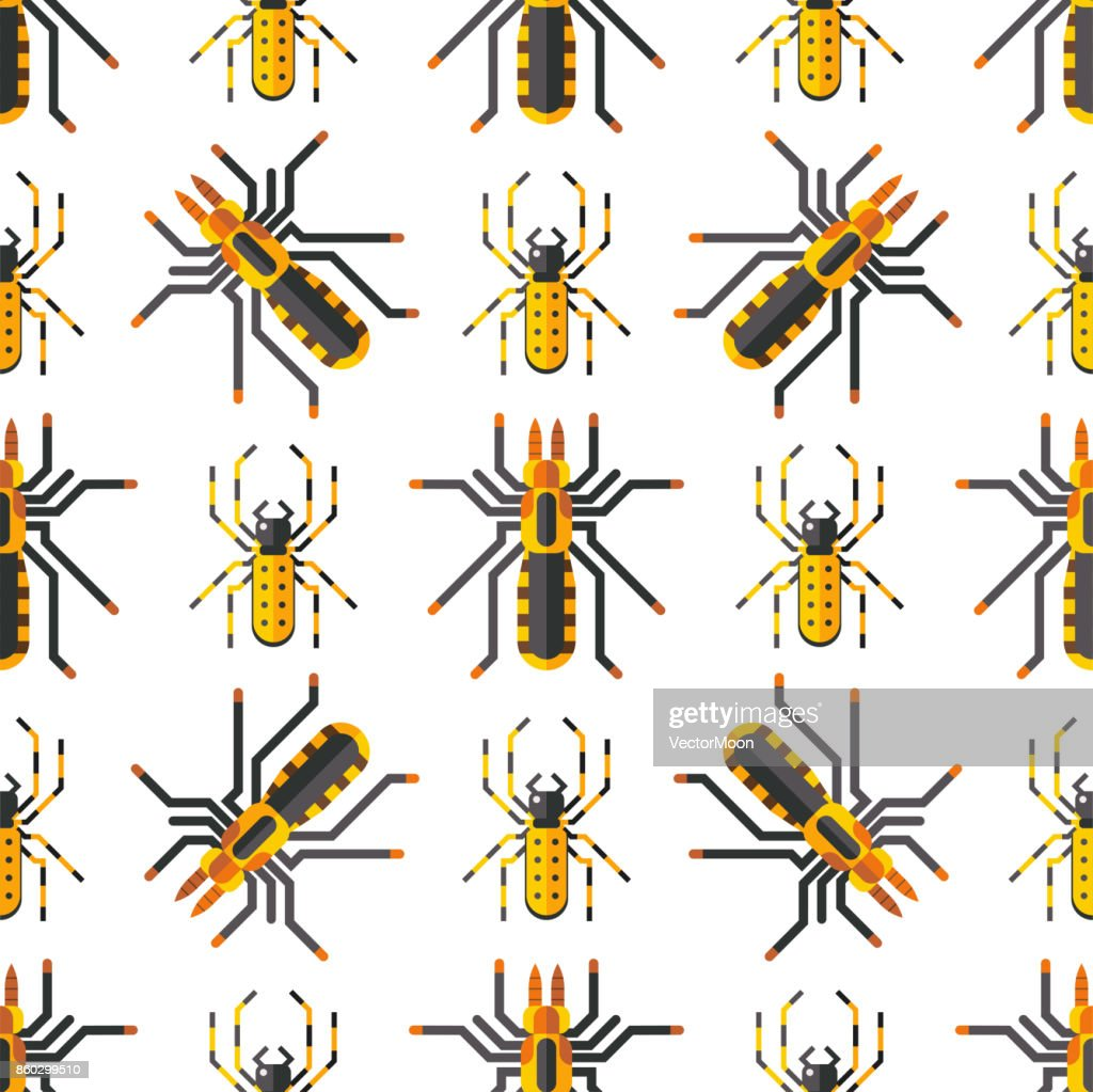 Spider web silhouette arachnid fear seamless pattern scary animal design nature insect danger horror halloween vector icon