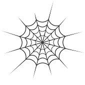 Spider web vector icon, long strands, cobweb