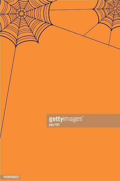 spiders cobweb border - halloween wallpaper stock illustrations