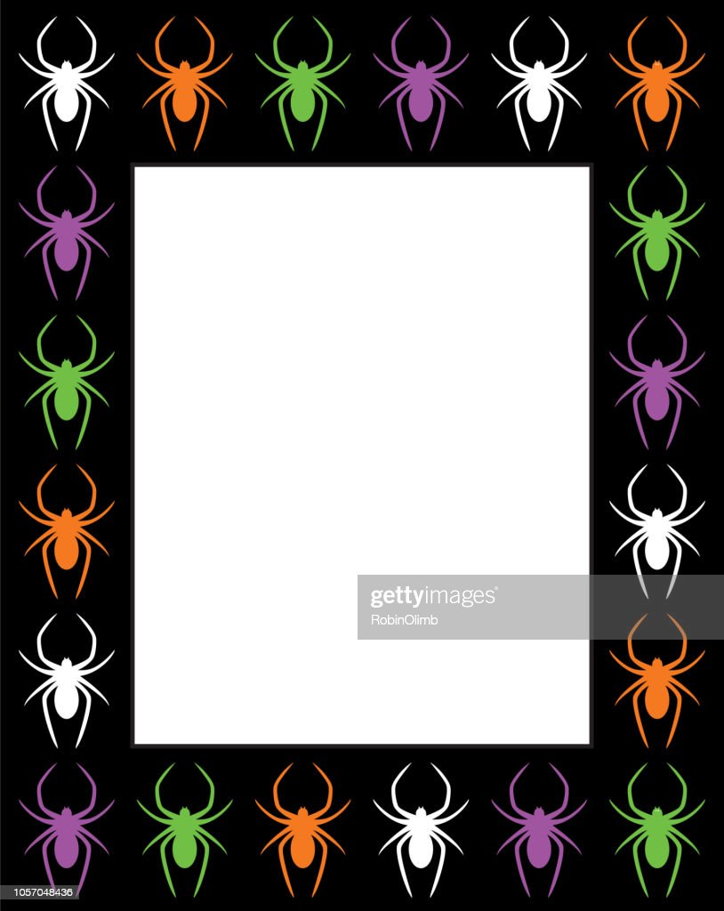Spiders Rectangle Frame Vector Art | Getty Images