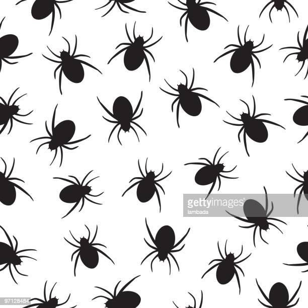 spiders seamless background - phobia stock illustrations, clip art, cartoons, & icons