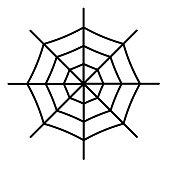 Spiderweb icon isolated on white background