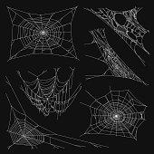 Spiderweb Set for Halloween Design