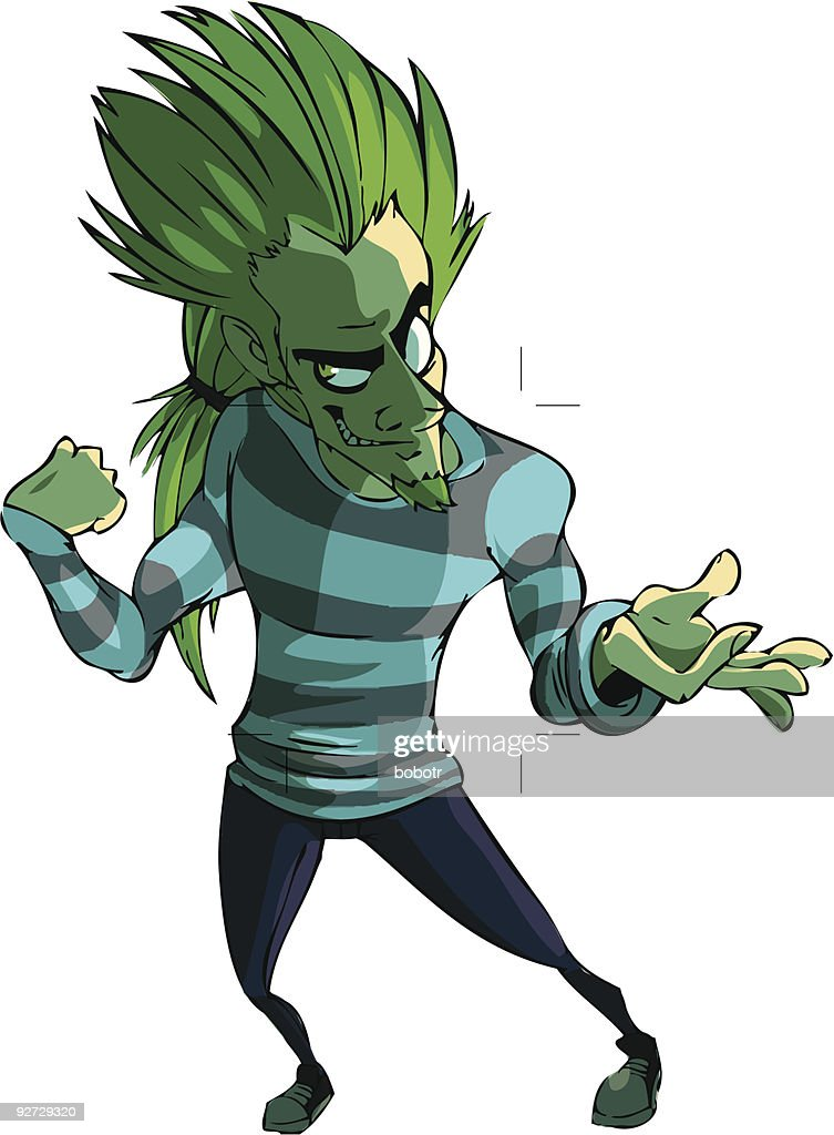 Spiky Haired Supervillian