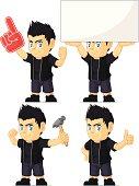 Spiky Rocker Boy Customizable Mascot 13