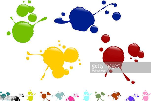 spilled paint - spill stock illustrations, clip art, cartoons, & icons