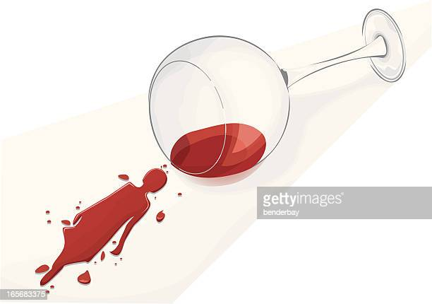 spilled wine in shape of woman silhouette. - spill stock illustrations, clip art, cartoons, & icons