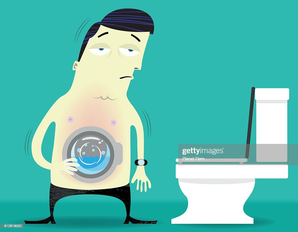 Spin Cycle Stomach : stock illustration