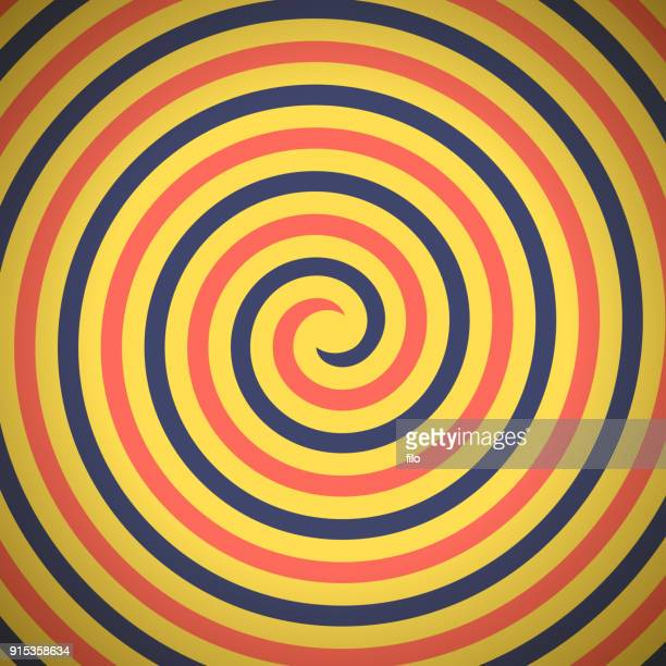 spin hypnosis - spinning stock illustrations