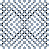 Spin, motion and optical illusion. Vector illustration of impossible shapes. Print pattern or wallpaper.