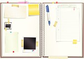 Spiral bound paper sketchpad with notepaper