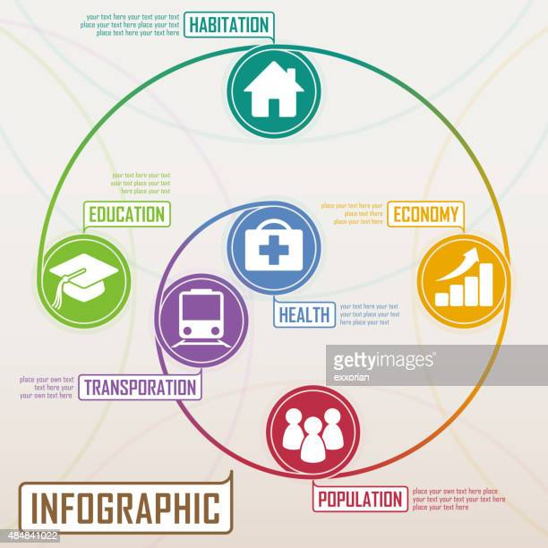 spiral concept infographic elements - finance and economy stock illustrations, clip art, cartoons, & icons