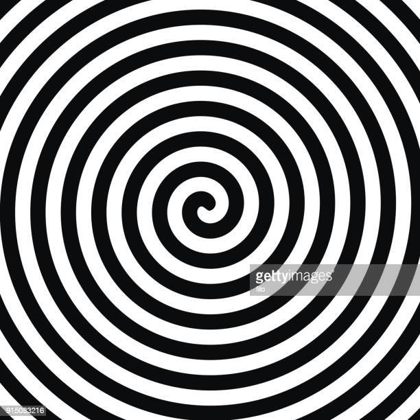 spiral hypnosis - spiral stock illustrations