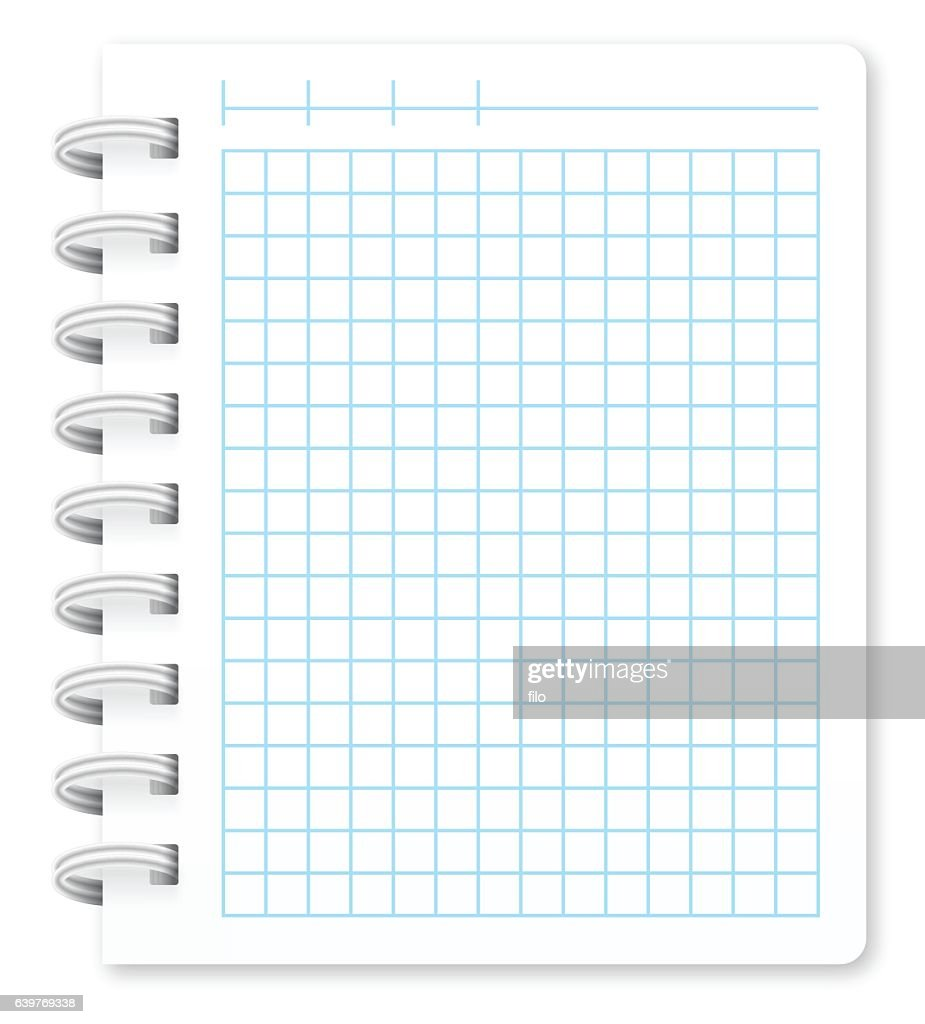 Spiral Notepad with Copy Space : stock illustration