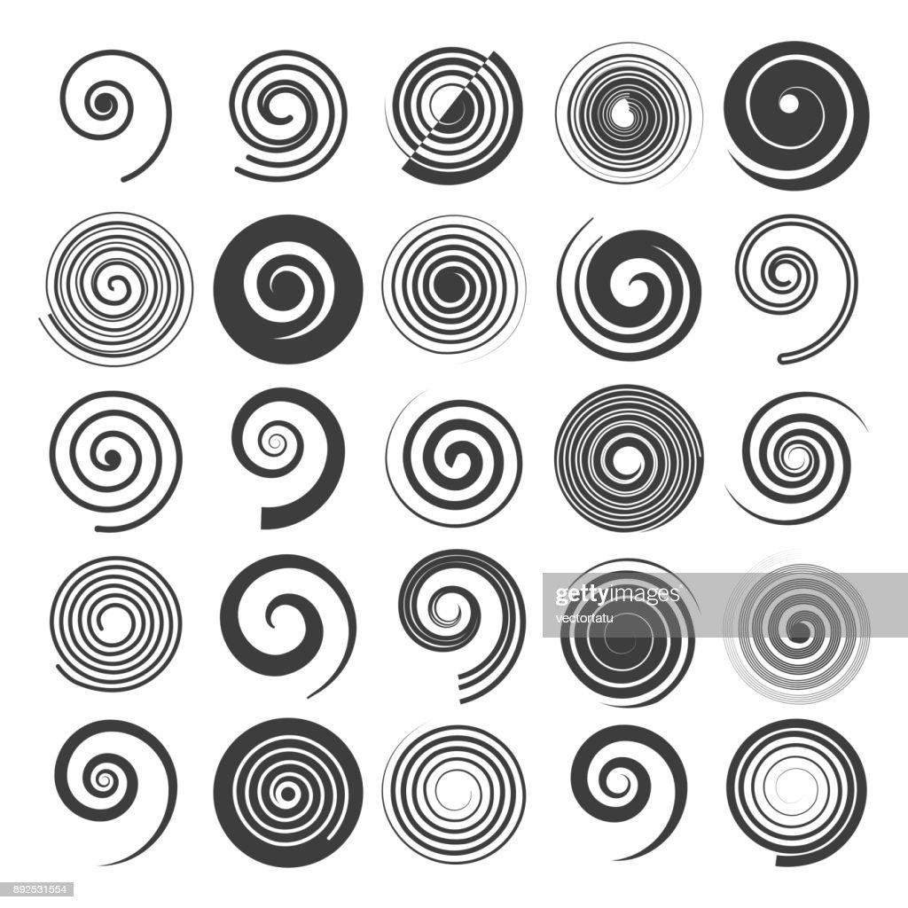 Spiral swirls icons
