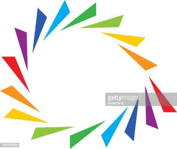 Spiraal driehoeken pictogram
