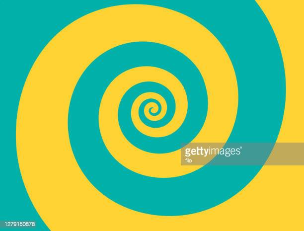 spiral wave background - hypnosis stock illustrations