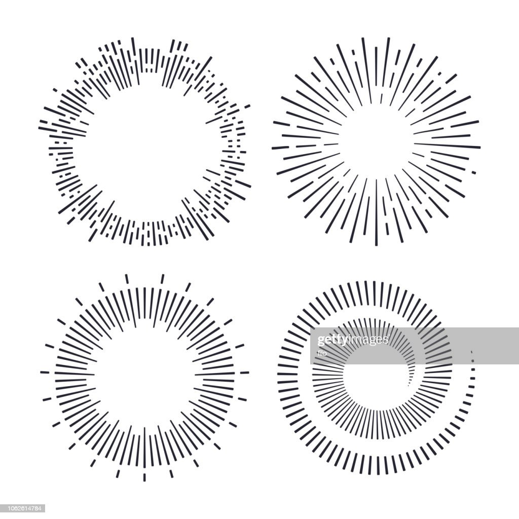 Spiralen und Explosionen : Stock-Illustration