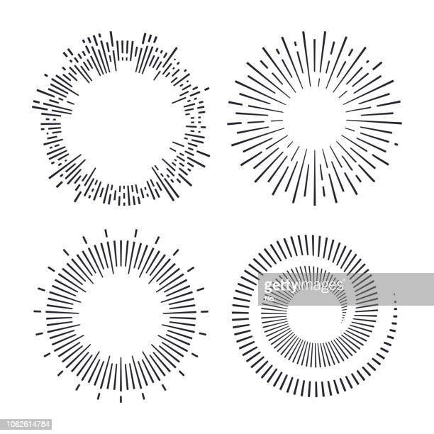 spirals and explosions - line stock illustrations