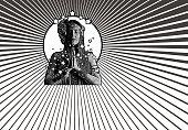 Spiritual woman prayer and meditation