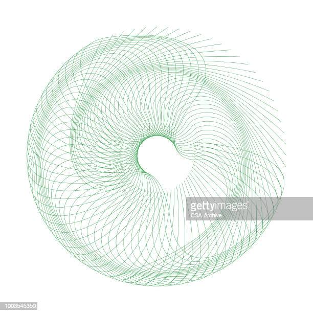 spirograph - spiral stock illustrations