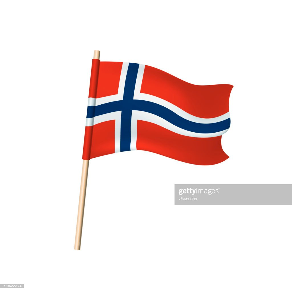 Spitsbergen flag on white background
