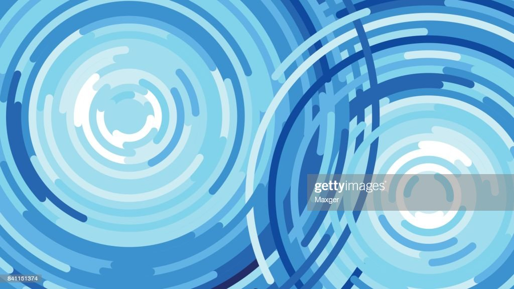 Splash a water drop, waves from the rain, Vector flat illustration