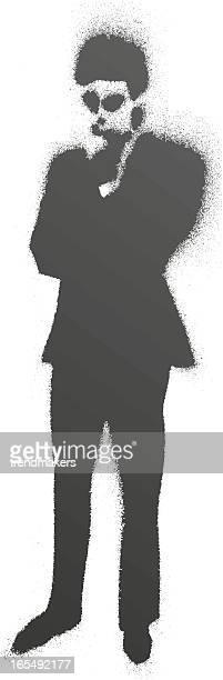 splash people figure - stencil stock illustrations