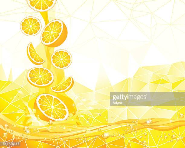 splashing orange - juice drink stock illustrations, clip art, cartoons, & icons