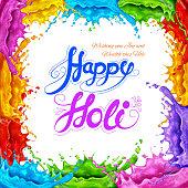 Splashy Happy Holi background