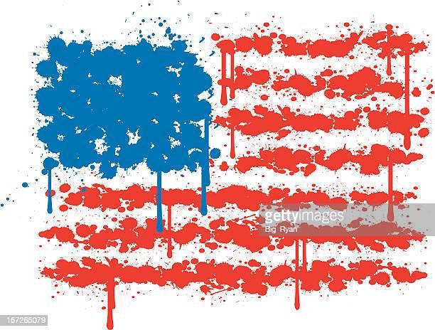splatter flag - bill of rights stock illustrations