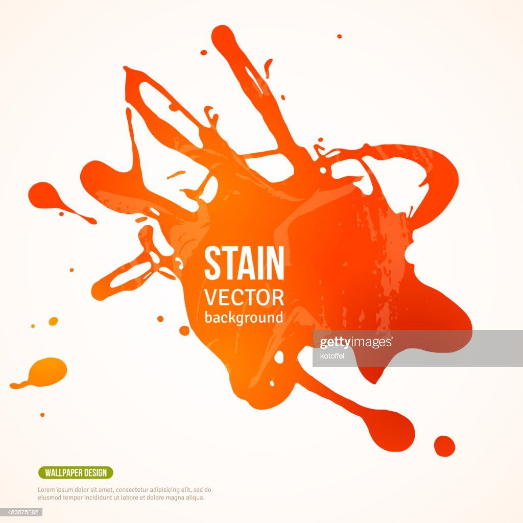 Splatter Paint Banner.  Orange Painted Background