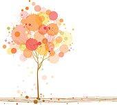 Splattered Autumn Tree
