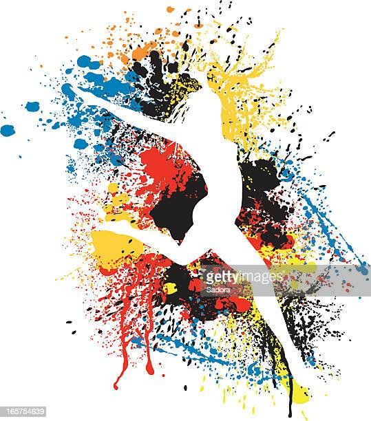 splattered woman - dancing stock illustrations, clip art, cartoons, & icons