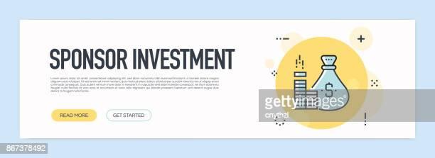 Sponsor Investment Concept - Flat Line Web Banner