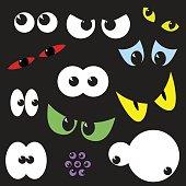 Spooky Eyeballs: Halloween Clip Art Collection.
