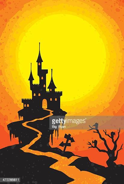 Castelo assustador de halloween