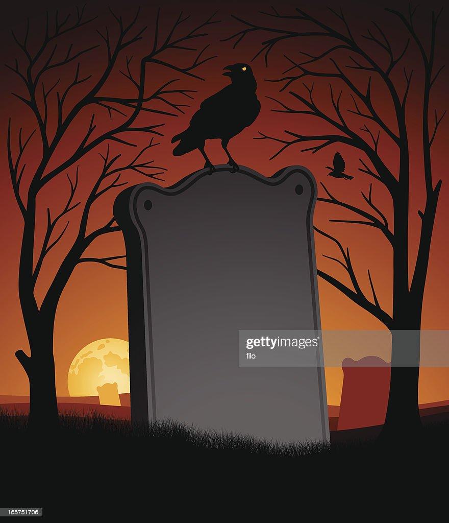 Spooky Halloween Scene Vector Art | Getty Images