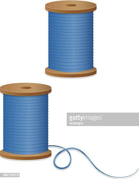 Spools of Sewing Thread Design Elements, Icons