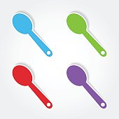 Spoon Colorful Vector Icon Design