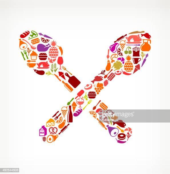 Spoons Food & Drink royalty free vector arts