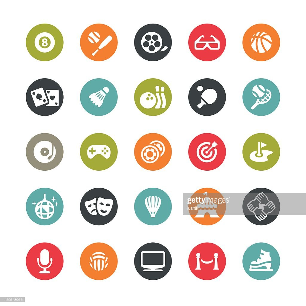 Sport and Entertainment vector icons / Ringico series