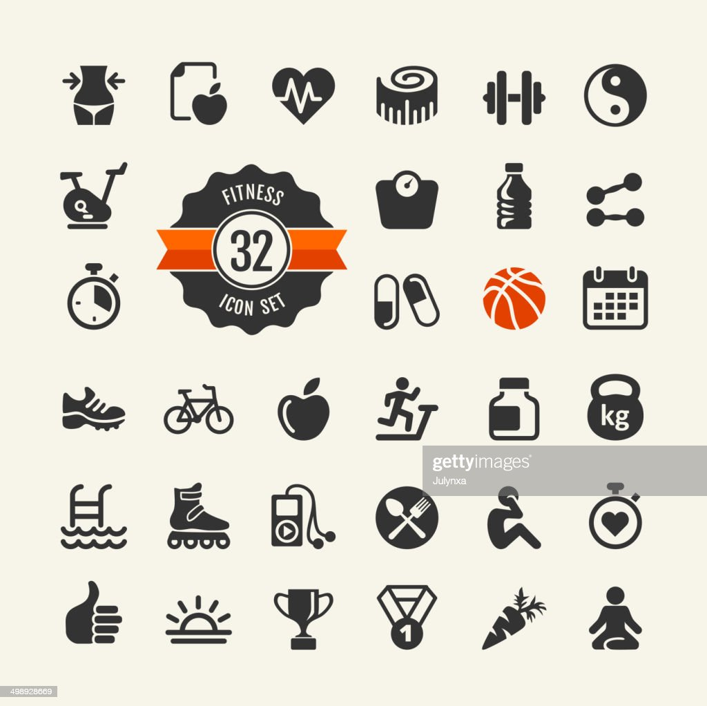 Sport and fitness web icons collection