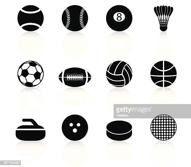 Sport Balls and elements - Black Series