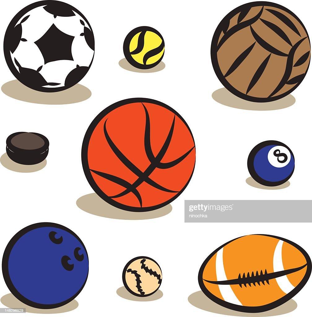 Sfere di Sport : Arte vettoriale