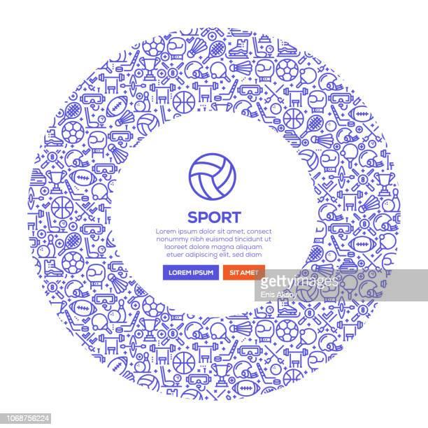 ilustraciones, imágenes clip art, dibujos animados e iconos de stock de deporte bandera - deporte de equipo