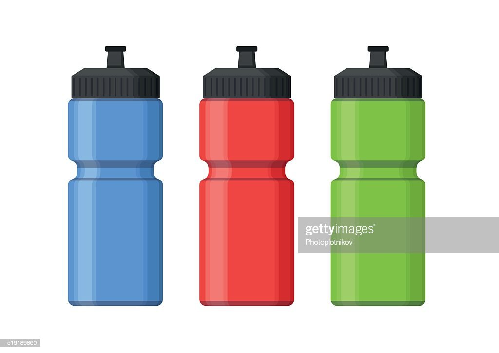 Sport bottles icon for water flat style. Sipper vector