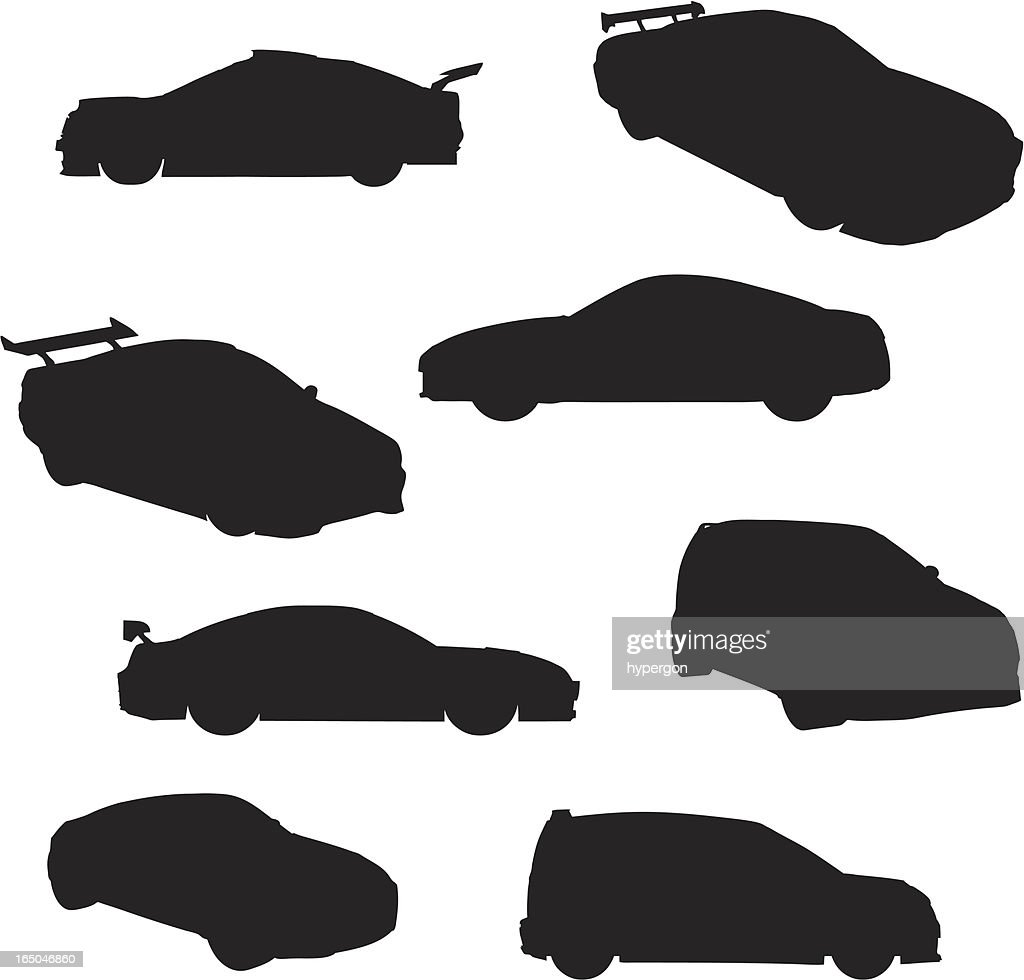 Sport Cars Silhouette Collection (vector+jpg) : stock illustration