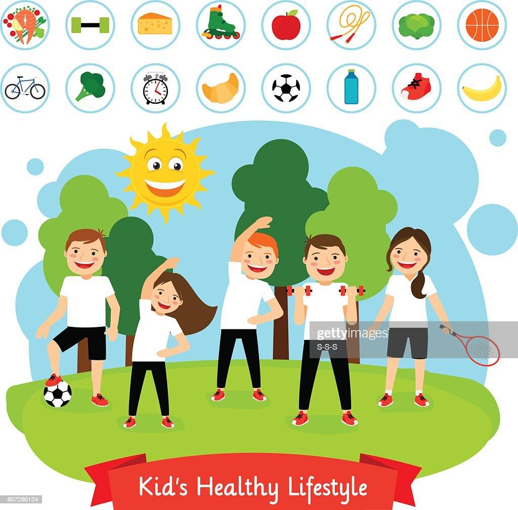 Sport children summer activity